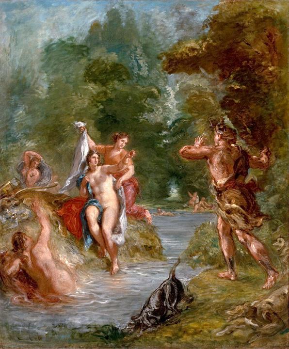 Delacroix, De zomer, Diana verrast door Aktaion