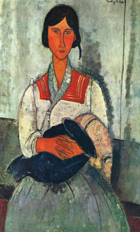 Modigliani, Zigeunervrouw met kind