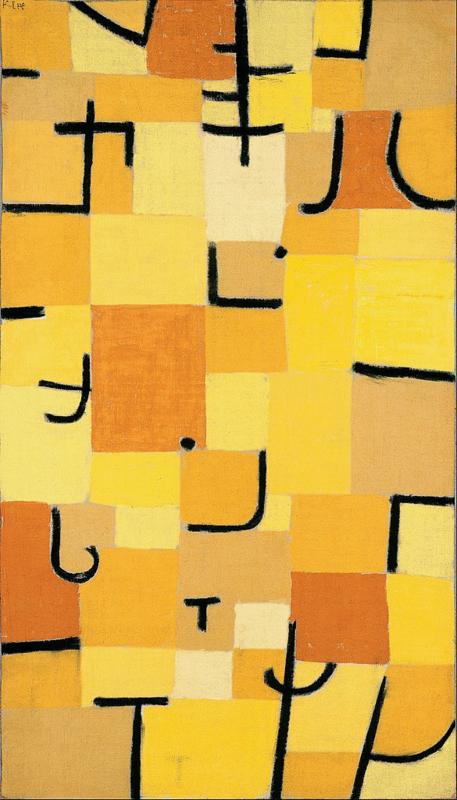 Klee, Tekens in geel