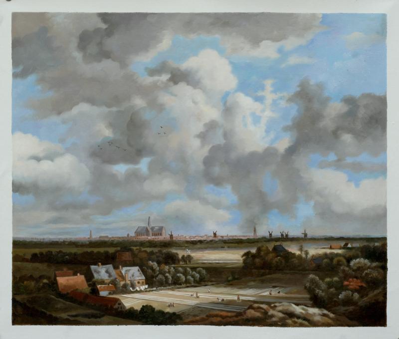 Van Ruisdael, Gezicht op Haarlem met bleekvelden