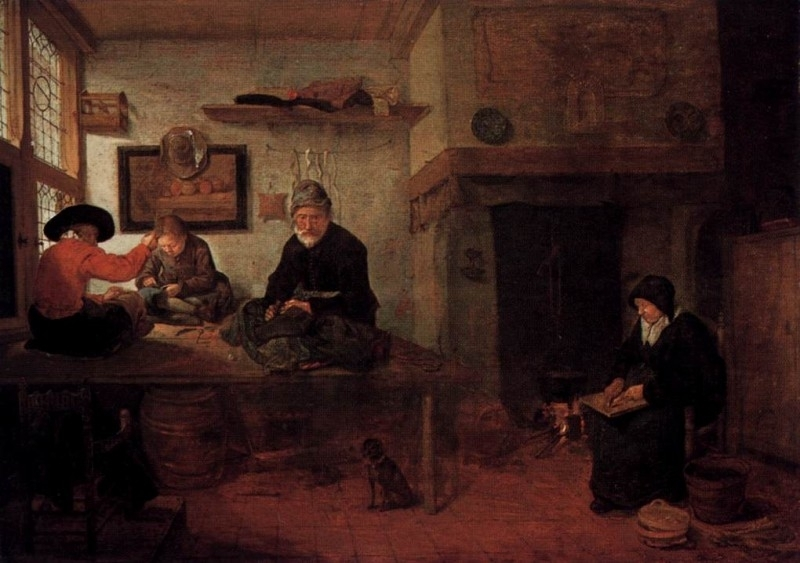 Van Brekelenkam, Interieur van een kleermakerswerkplaats