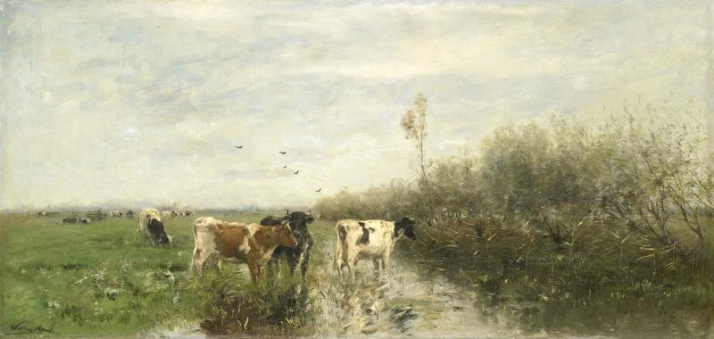 W. Maris, Koeien in een drassig weiland