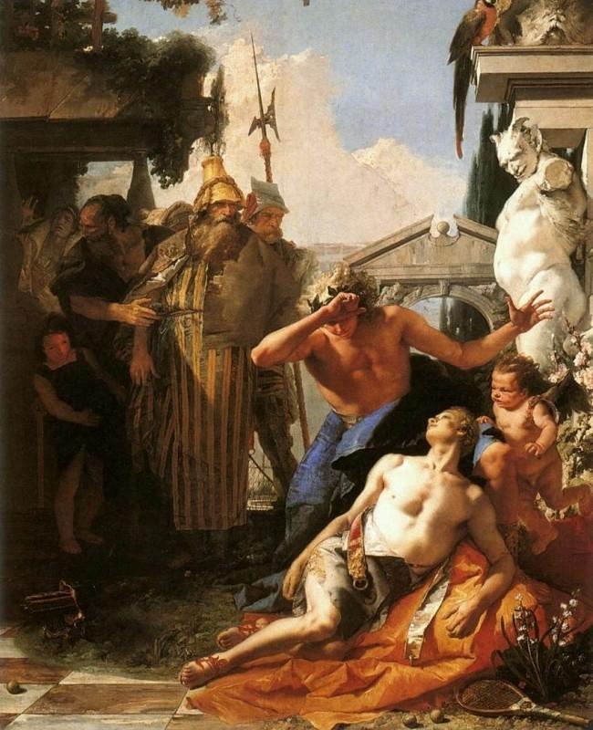 Tiepolo, De dood van Hyacinthus