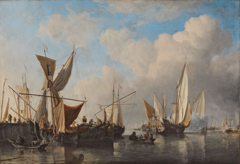 Van de Velde, Havenhoofd met schepen