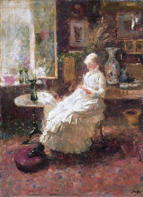 Toorop, Portret van Annie Hall