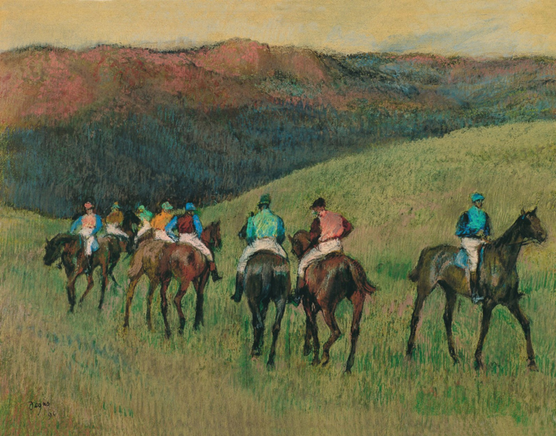 Degas, Jockeys in training