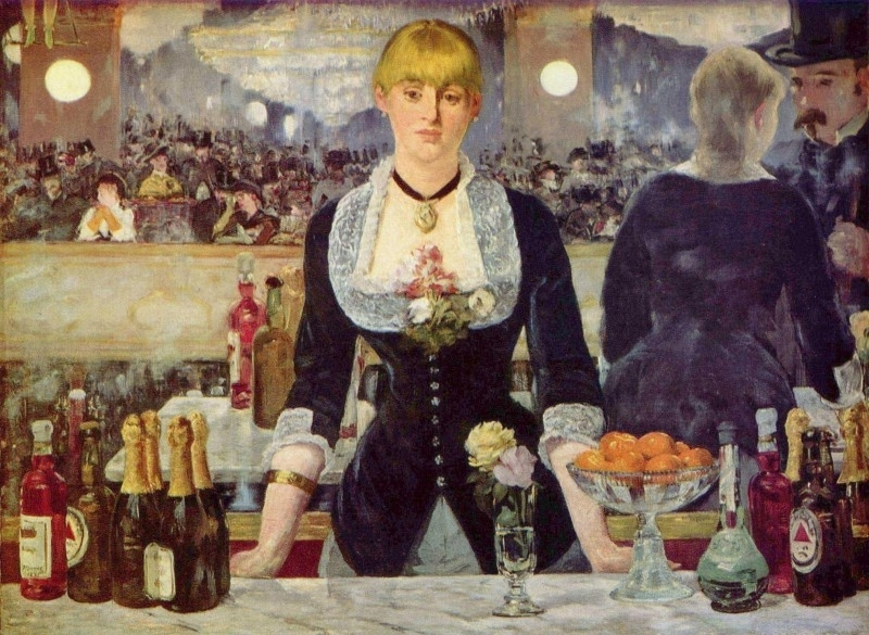 Manet, Cafe in de Folies-Bergere