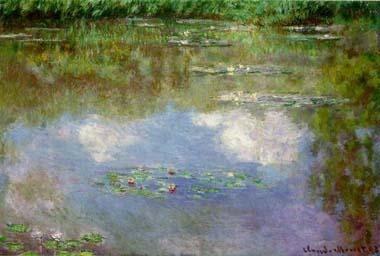 Monet, Waterlelies (de wolken)