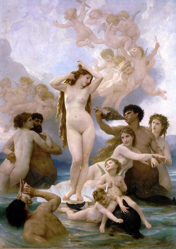 Bouguereau, De geboorte van Venus