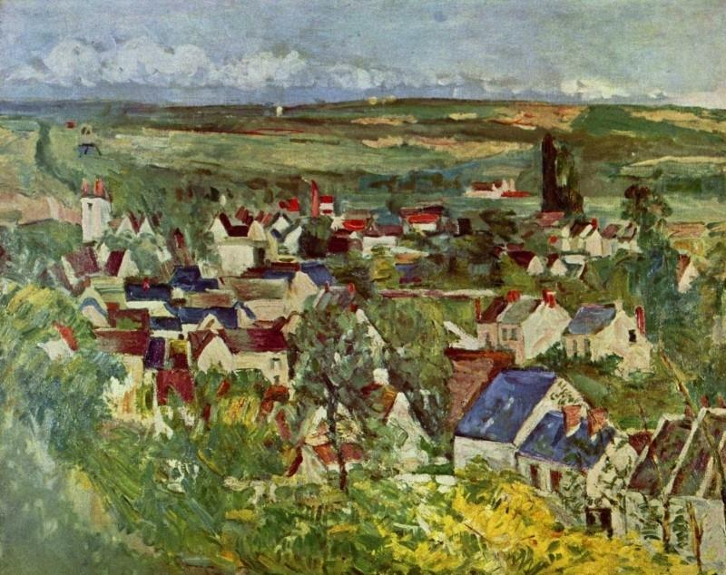 Cézanne, Zicht op Auvers