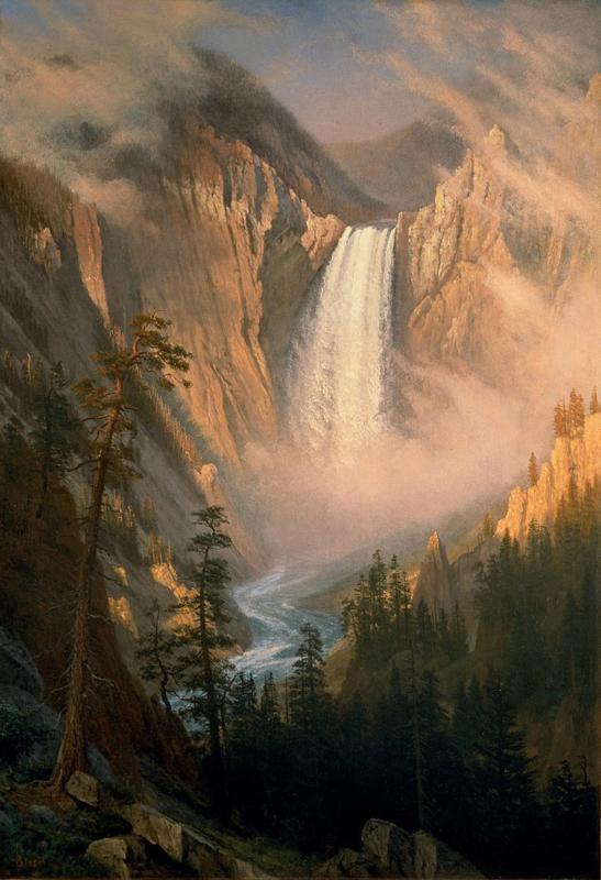 Bierstadt, Yellowstone waterval