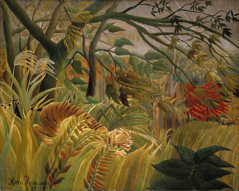 Rousseau, Tijger in een tropische storm (surprise)