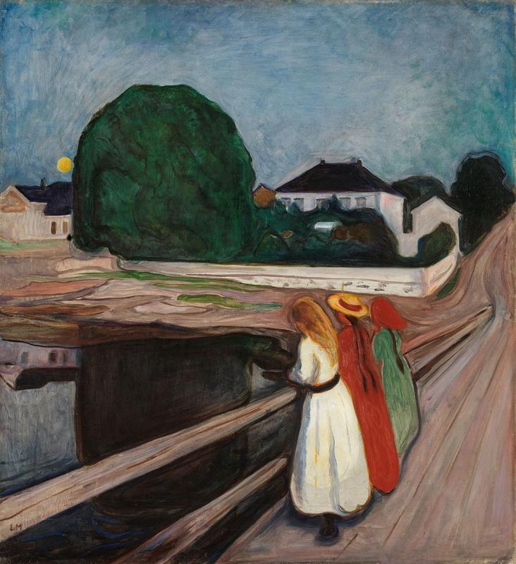 Munch, Meisjes op de pier