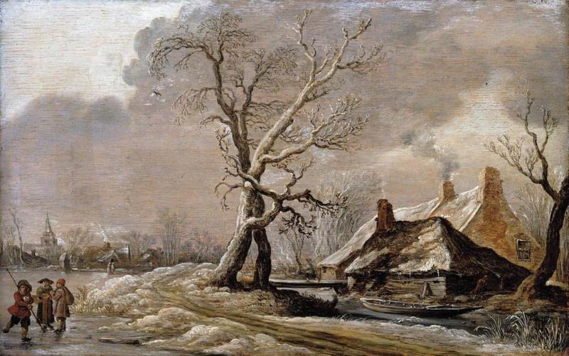 Van Goyen, Winter op de rivier