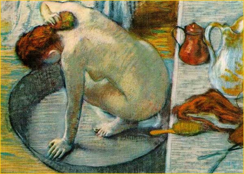 Degas, De badkuip