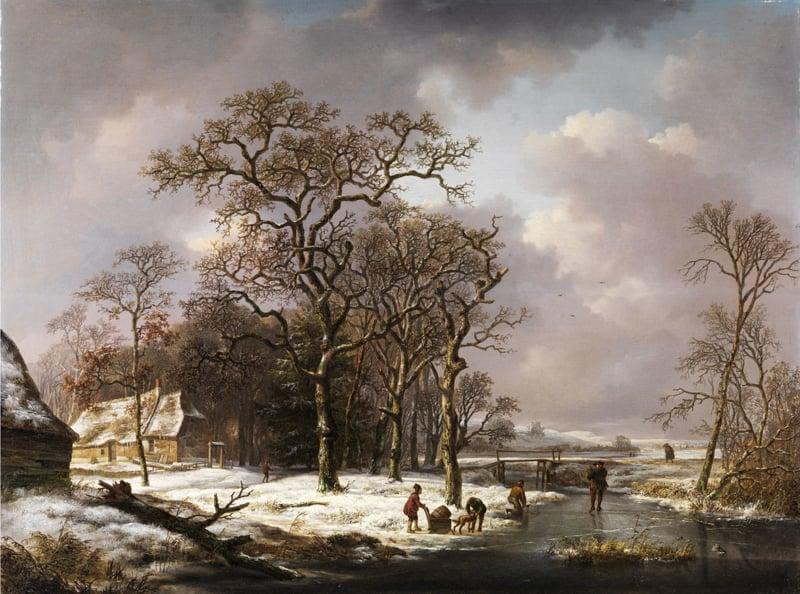 Schelfhout, Winterlandschap met knoestige eiken