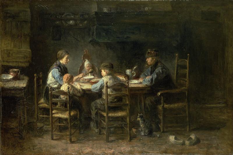 J. Israëls, Boerengezin aan de maaltijd