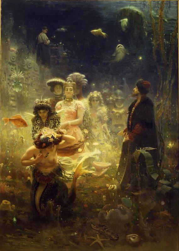 Repin, Sadko in het onderwater koninkrijk