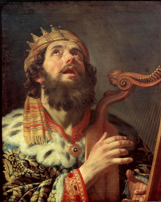 Van Honthorst, Harpspelende koning David