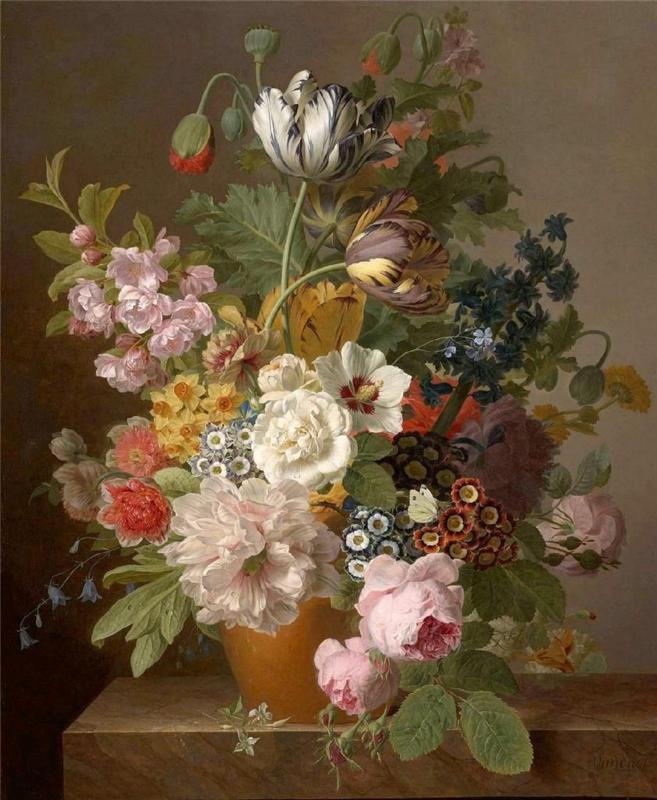 Van Dael, Bloemen in een aardewerken pot