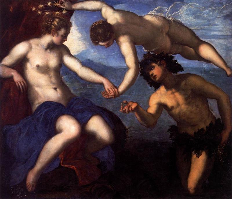 Tintoretto, Bacchus, Venus en Ariadne