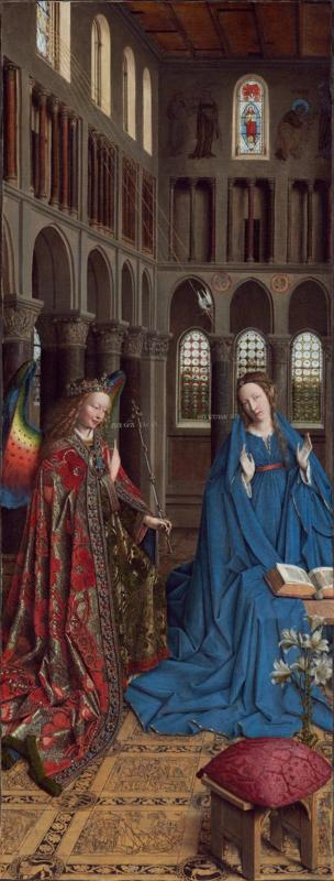 Van Eyck, Maria Boodschap 2