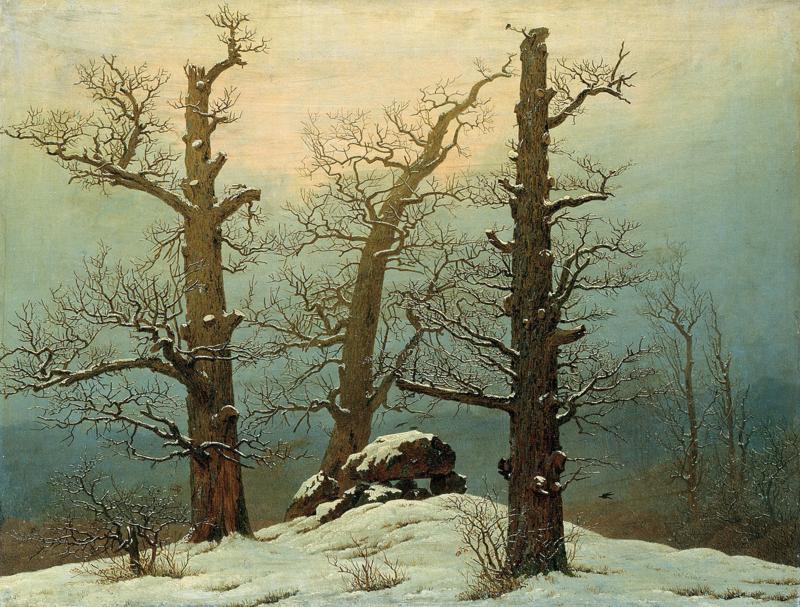 Friedrich, Steenhoop in de sneeuw