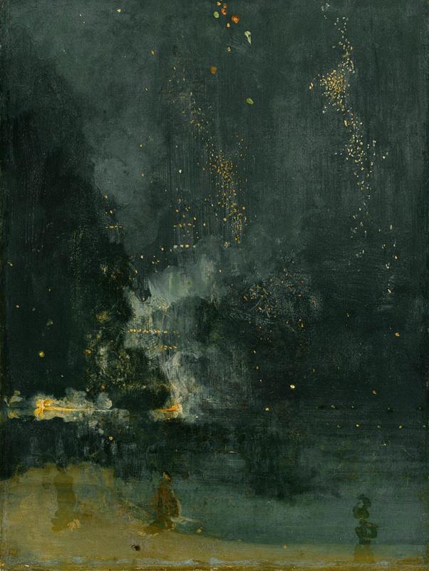 Whistler, Nocturne in zwart en goud: de vallende raket