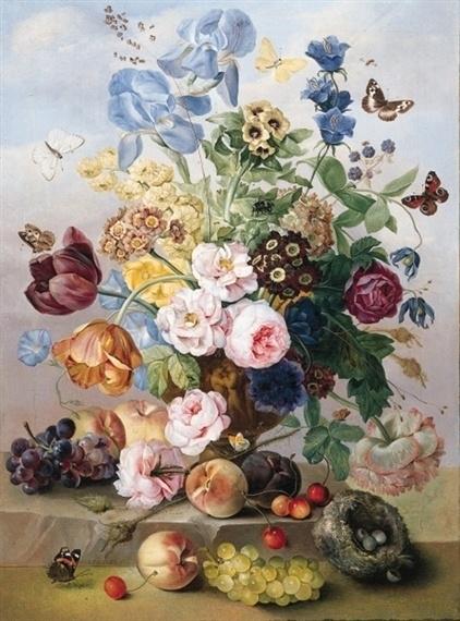 Van Dael, Stilleven met bloemen en vlinders