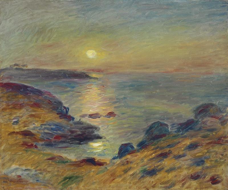 Renoir, Zonsondergang bij Douarnenez