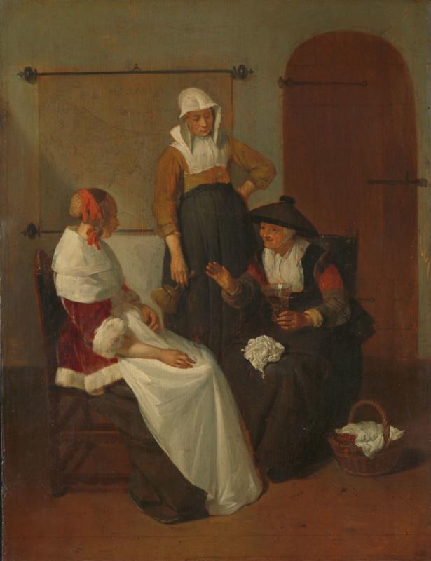 Van Brekelenkam, Een vertrouwelijk gesprek