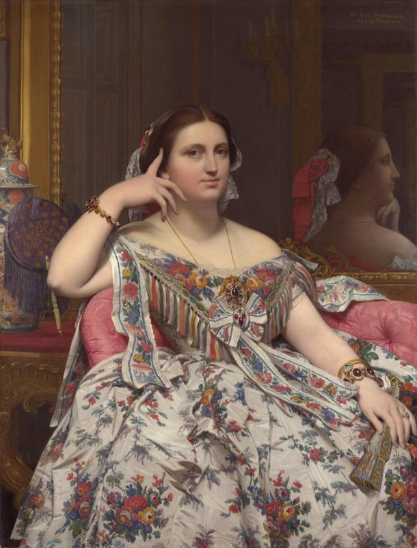 Ingres, Portret van Madame Moitessier