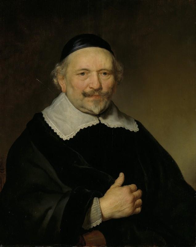 Flinck, Portret van een man, vermoedelijk Augustin Wttenbogaert