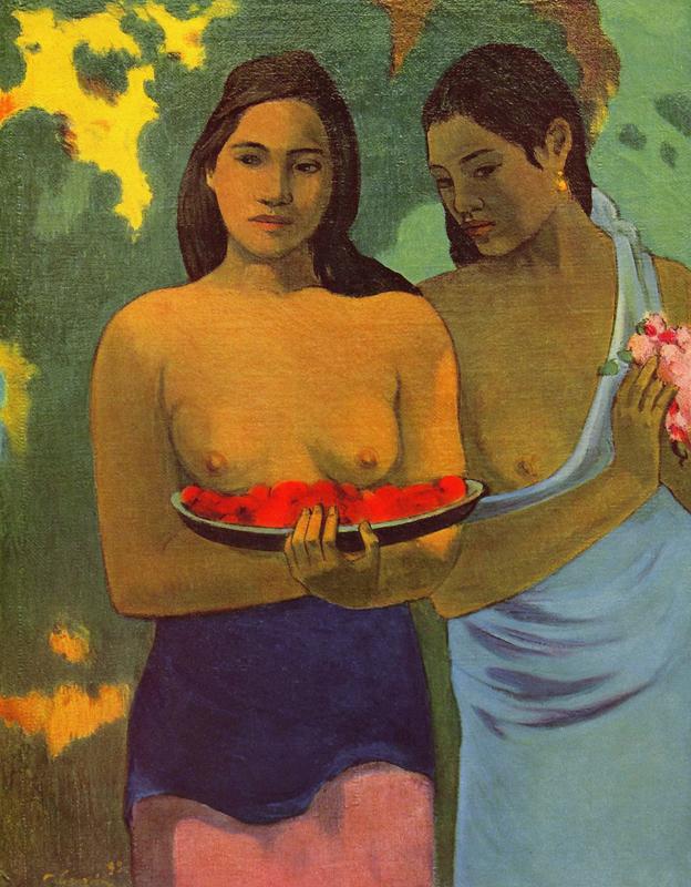 Gauguin, Twee Tahitiaanse vrouwen
