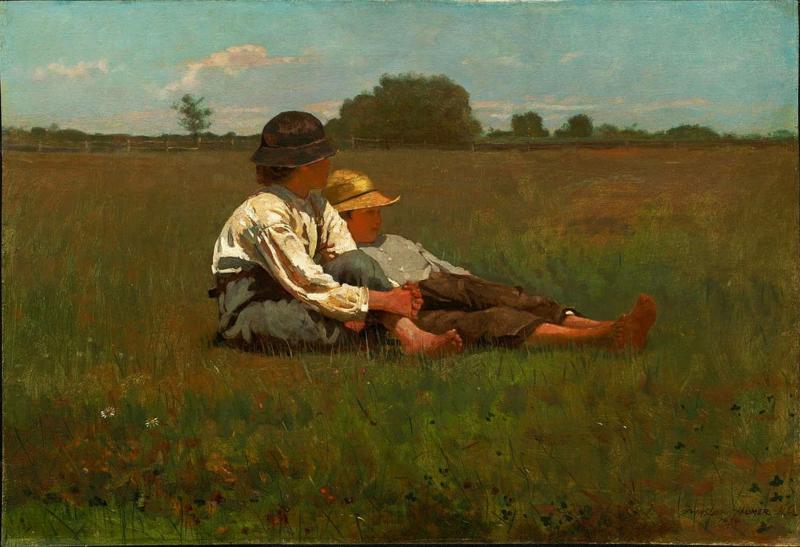 Homer, Jongens in een weiland