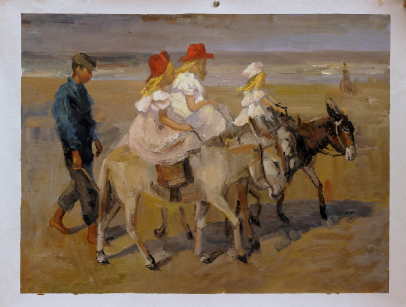 I. Israëls, Ezeltje rijden op het strand