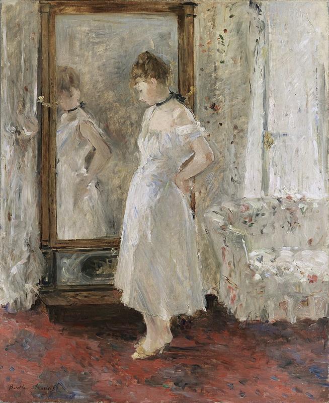 Morisot, De staande spiegel