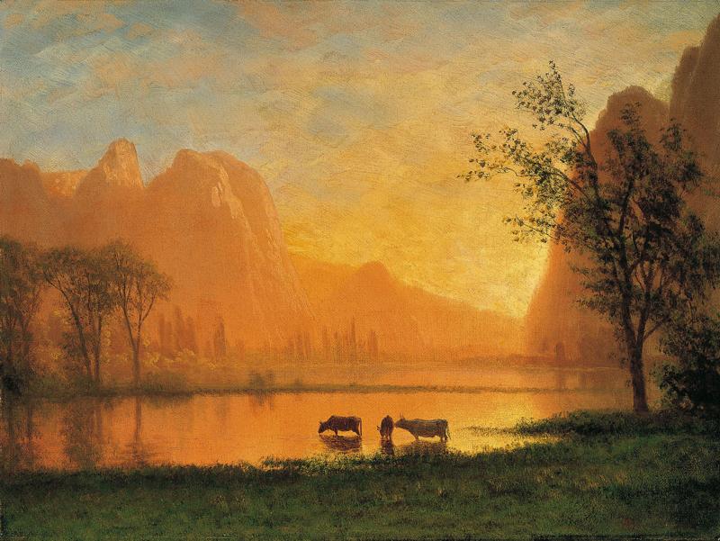 Bierstadt, Zonsondergang in Yosemite