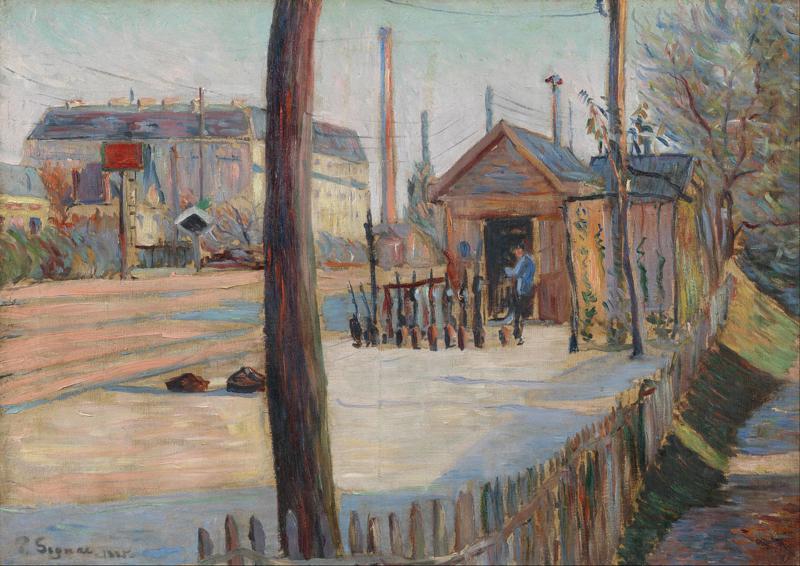 Signac, Spoorwegknooppunt bij Bois-Colombes