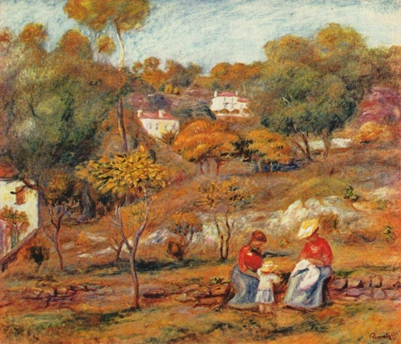 Renoir, Landschap bij Cagnes