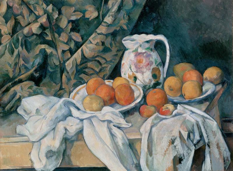 Cézanne, Stilleven met gordijn