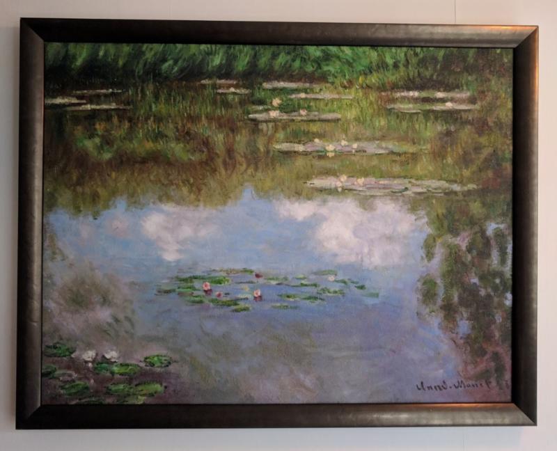 Monet, Waterlelies, ingelijst