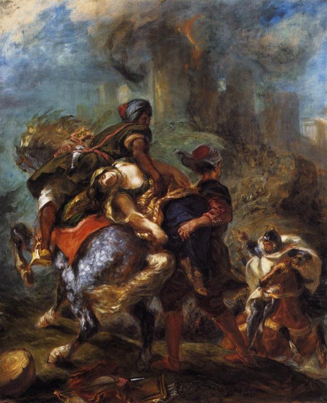 Delacroix, De roof van Rebecca
