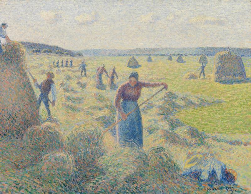 Pissarro, Het hooien, Eragny