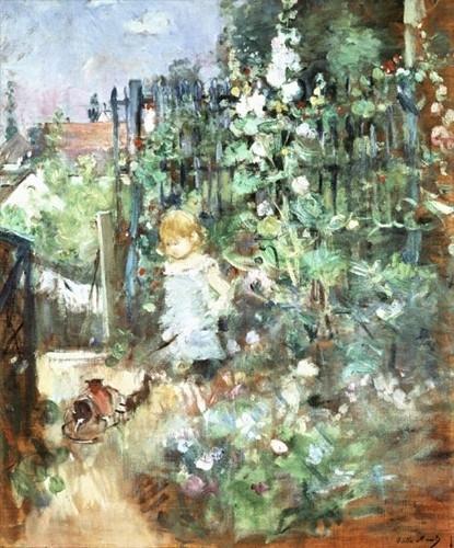 Morisot, Kind tussen stokrozen