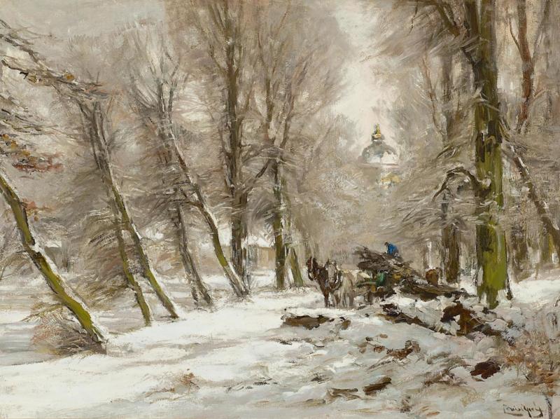 Apol, Winterlandschap met paleis Huis ten Bosch