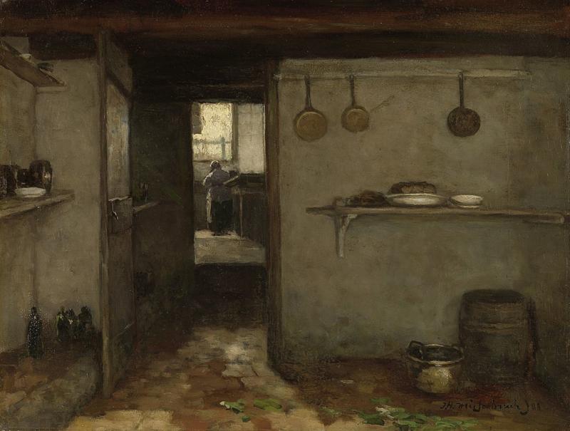 Weissenbruch, Doorkijkje in het onderhuis