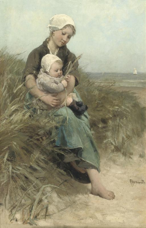 Blommers, Moeder met kind in de duinen