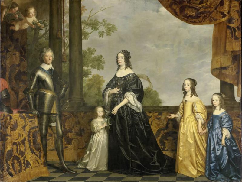 Van Honthorst, Frederik Hendrik en zijn gezin