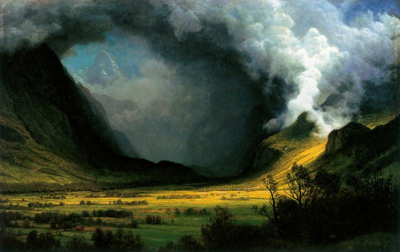 Bierstadt, Storm in de bergen